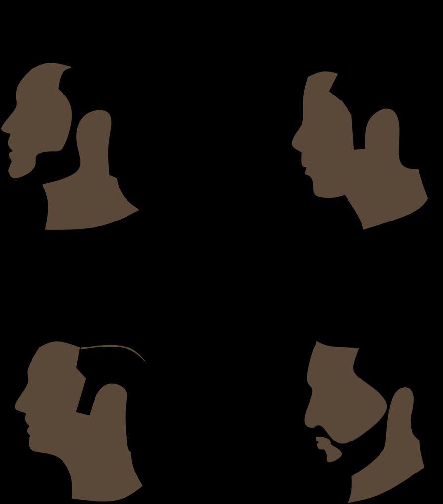 hair, beard, silhouette